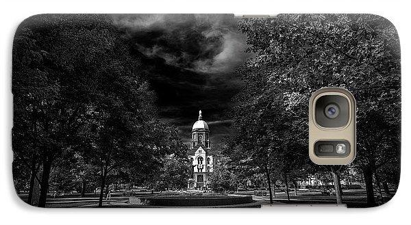 Notre Dame University Black White Galaxy S7 Case by David Haskett