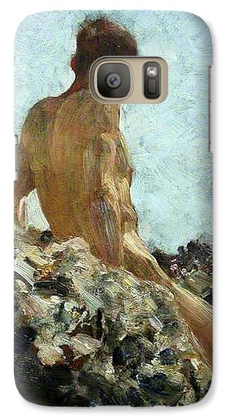 Galaxy Case featuring the painting Nude Study by Henry Scott Tuke