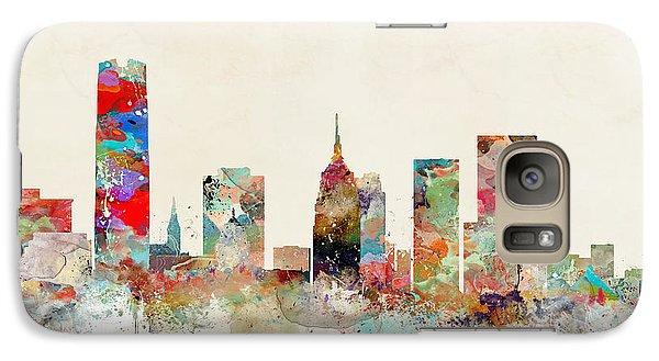 Galaxy Case featuring the painting Oklahoma City Oklahoma by Bri B
