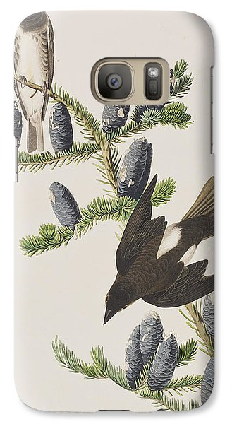 Flycatcher Galaxy S7 Case - Olive Sided Flycatcher by John James Audubon