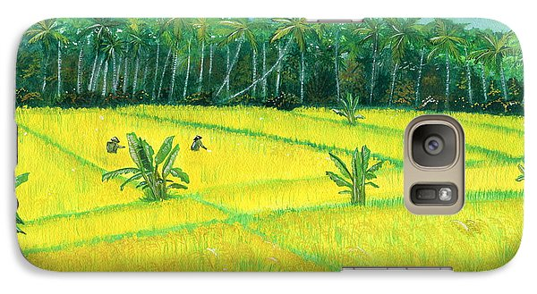 Galaxy Case featuring the painting On The Way To Ubud II Bali Indonesia by Melly Terpening