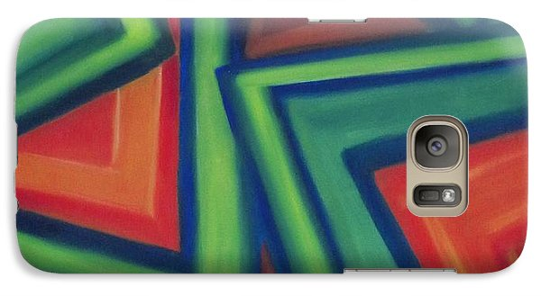 Galaxy Case featuring the painting Orange And Green by Patricia Cleasby