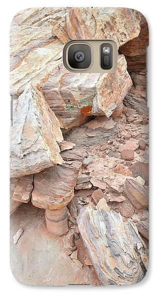 Galaxy Case featuring the photograph Ornate Sandstone In Valley Of Fire by Ray Mathis