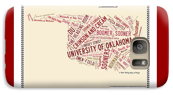 Ou Word Art University Of Oklahoma Galaxy S7 Case