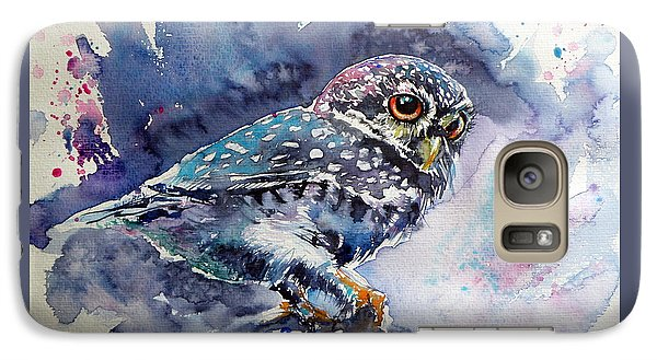 Owl At Night Galaxy Case by Kovacs Anna Brigitta