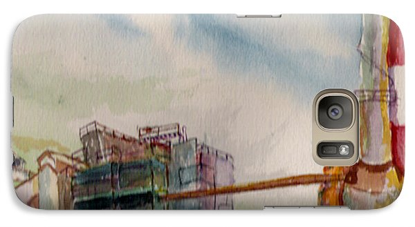 Galaxy Case featuring the painting Paia Mill 2 by Eric Samuelson