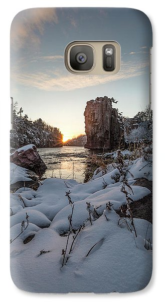 Galaxy Case featuring the photograph  Palisades First Snow by Aaron J Groen