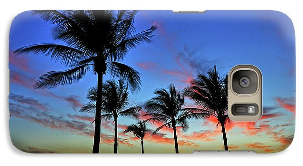 Galaxy Case featuring the photograph Palm Tree Skies by Scott Mahon