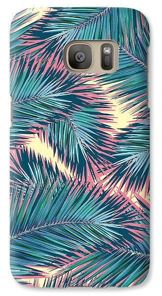 Palm Trees  Galaxy Case by Mark Ashkenazi