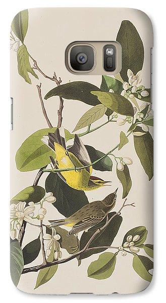 Warbler Galaxy S7 Case - Palm Warbler by John James Audubon