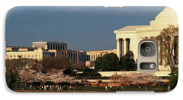 Panoramic View Of Jefferson Memorial Galaxy Case by Panoramic Images