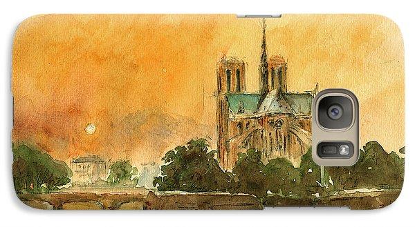 Paris Notre Dame Galaxy Case by Juan  Bosco