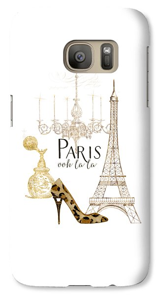 Paris - Ooh La La Fashion Eiffel Tower Chandelier Perfume Bottle Galaxy S7 Case by Audrey Jeanne Roberts
