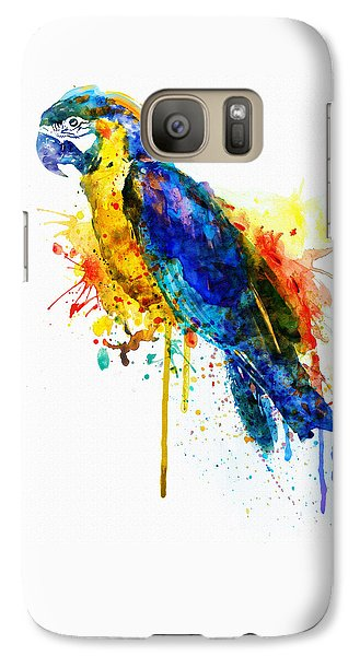 Parrot Watercolor  Galaxy S7 Case by Marian Voicu