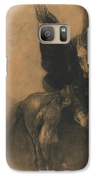 Pegasus And Bellerophon Galaxy S7 Case by Odilon Redon