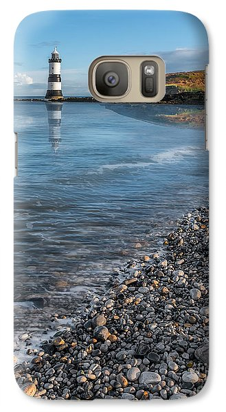 Puffin Galaxy S7 Case - Penmon Point Lighthouse by Adrian Evans