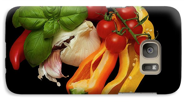 Galaxy Case featuring the photograph Peppers Basil Tomatoes Garlic by David French