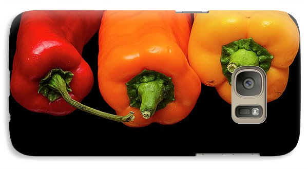 Galaxy Case featuring the photograph Peppers Red Yellow Orange by David French