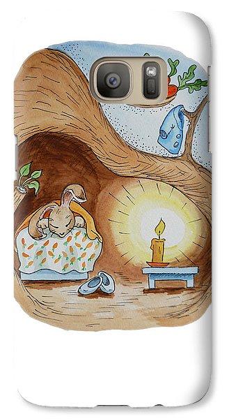 Peter Rabbit And His Dream Galaxy S7 Case by Irina Sztukowski