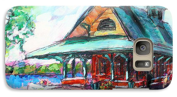 Galaxy Case featuring the painting Pewaukee Depot by Les Leffingwell