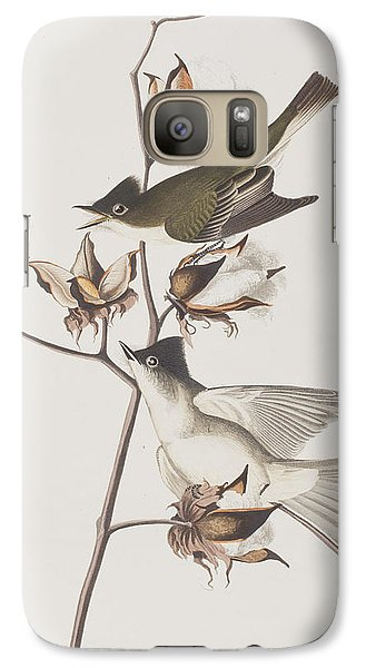 Pewit Flycatcher Galaxy S7 Case by John James Audubon