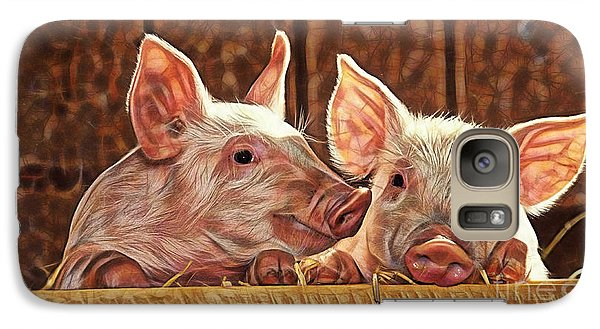 Pig Collection Galaxy Case by Marvin Blaine
