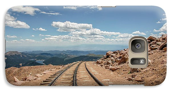 Galaxy Case featuring the photograph Pikes Peak Cog Railway Track At 14,110 Feet by Peter Ciro