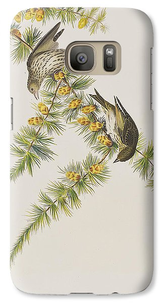 Pine Finch Galaxy S7 Case by John James Audubon