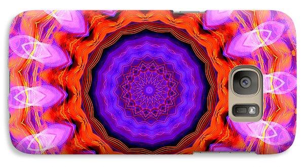 Pink 16-petals Kaleidoscope Galaxy S7 Case
