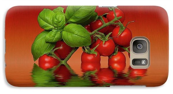 Galaxy Case featuring the photograph Plum Cherry Tomatoes Basil by David French