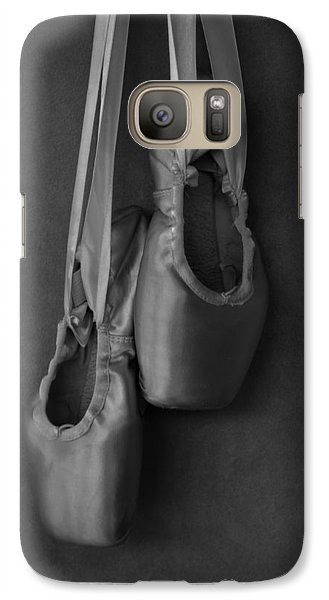 Galaxy Case featuring the photograph Pointe Shoes Bw by Laura Fasulo