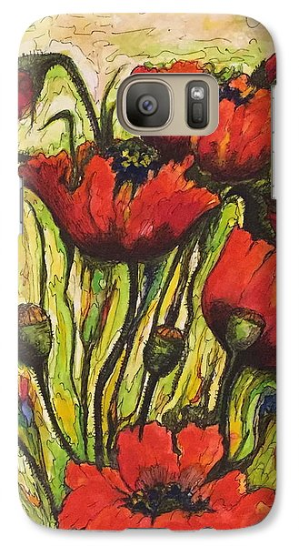 Galaxy Case featuring the painting Poppies by Rae Chichilnitsky