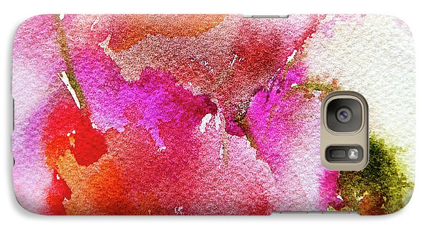 Galaxy Case featuring the painting Poppy Garden by Linde Townsend