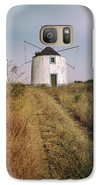 Galaxy Case featuring the photograph Portuguese Windmill by Carlos Caetano