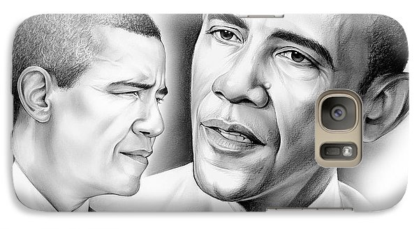 President Barack Obama Galaxy S7 Case by Greg Joens