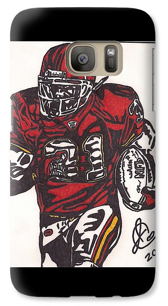 Galaxy Case featuring the drawing Priest Holmes 2 by Jeremiah Colley