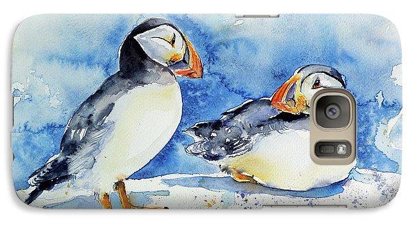 Puffin Galaxy S7 Case - Puffins by Kovacs Anna Brigitta