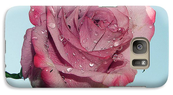 Galaxy Case featuring the photograph Purple Rose by Elvira Ladocki