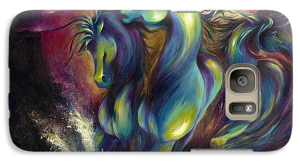 Galaxy Case featuring the painting Racing The Moon by Dina Dargo