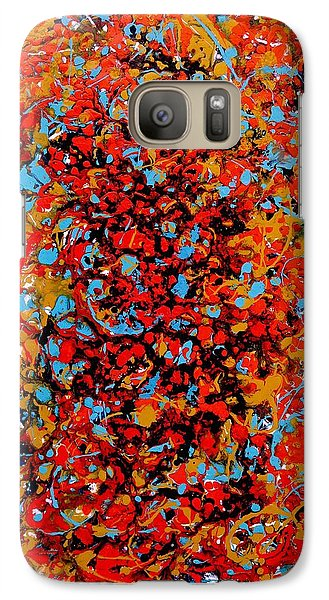Galaxy Case featuring the painting Raindance 1 by Irene Hurdle