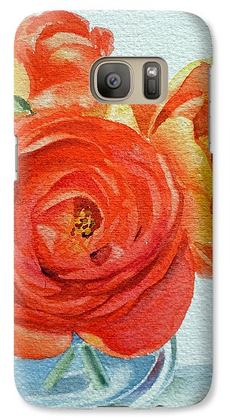 Rose Galaxy S7 Case - Ranunculus by Irina Sztukowski
