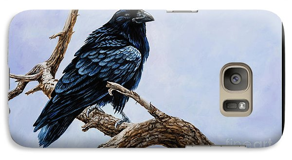 Galaxy Case featuring the painting Raven by Igor Postash
