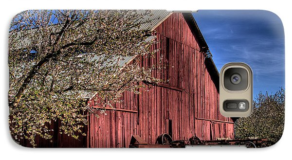 Galaxy Case featuring the photograph Red Barn by Jim and Emily Bush