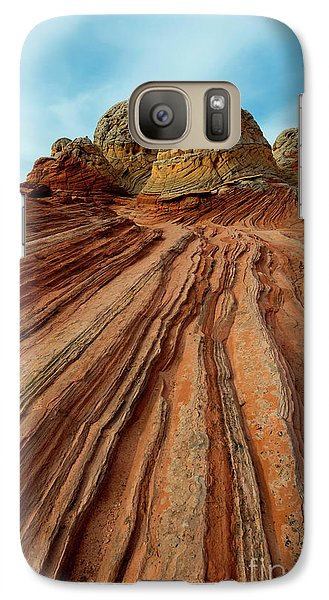 Galaxy Case featuring the photograph Red Desert Lines by Mike Dawson