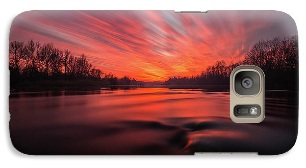 Galaxy Case featuring the photograph Red Dusk by Davorin Mance