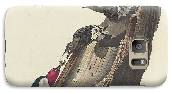 Red-headed Woodpecker Galaxy S7 Case by Anton Oreshkin