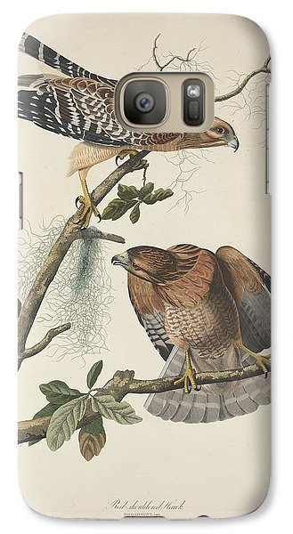 Red Shouldered Hawk Galaxy S7 Case by Dreyer Wildlife Print Collections