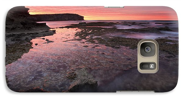 Kangaroo Galaxy S7 Case - Red Sky At Morning by Mike  Dawson