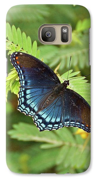 Galaxy Case featuring the photograph Red Spotted Purple Butterfly by Sandy Keeton