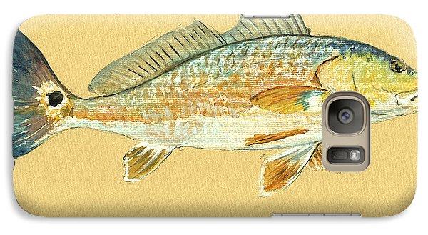 Redfish Painting Galaxy Case by Juan  Bosco